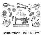 illustration of atelier tailor... | Shutterstock . vector #1518428195