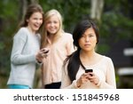 teenage girl being bullied by... | Shutterstock . vector #151845968
