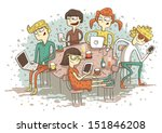 global village cartoon with a... | Shutterstock .eps vector #151846208