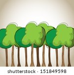 trees design over beige... | Shutterstock .eps vector #151849598