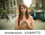 caucasian woman female using... | Shutterstock . vector #151849772