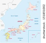 japan administrative map | Shutterstock .eps vector #151851002