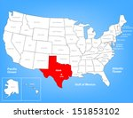 vector map of the united states ... | Shutterstock .eps vector #151853102