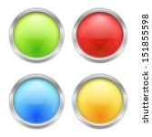 set of four round buttons | Shutterstock . vector #151855598