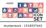 mixer icon set. 19 filled mixer ... | Shutterstock .eps vector #1518557642