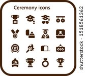 ceremony icon set. 16 filled... | Shutterstock .eps vector #1518561362