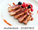 Close Up Of Grilled Duck Breas...