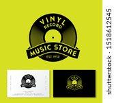 vinyl record with ribbon. logo...   Shutterstock .eps vector #1518612545