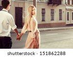 young fashion couple walking... | Shutterstock . vector #151862288