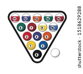 colorful billiard balls with...