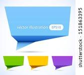 colorful 3d speech bubbles.    Shutterstock .eps vector #151863395