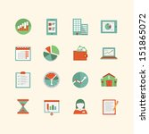 business icon set | Shutterstock .eps vector #151865072