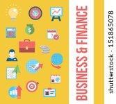 business icon set | Shutterstock .eps vector #151865078