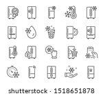 Fridge Line Icons. Refrigerato...