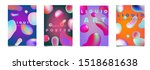 set of modern futuristic... | Shutterstock .eps vector #1518681638