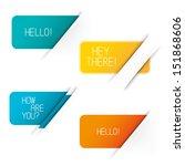 vector tab banner elements. set ...