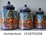 Mexican Artisan Vases With...