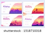 farming life brochure cards set.... | Shutterstock .eps vector #1518710318