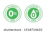 non alcoholic round icon stamp. ... | Shutterstock .eps vector #1518714632