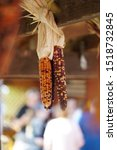 Dried Indian Corn Cobs With...