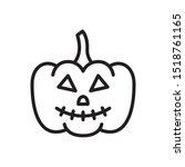 pumpkin icon  halloween symbol...