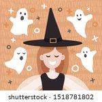 vector illustration of a funny... | Shutterstock .eps vector #1518781802