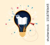 creative light bulb and open...   Shutterstock .eps vector #1518785645