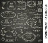 set of vintage design elements... | Shutterstock .eps vector #151880318