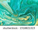 green and gold marble pattern | Shutterstock . vector #1518821315