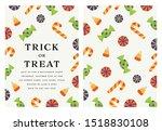 trick or treat halloween... | Shutterstock .eps vector #1518830108