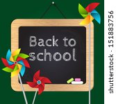 back to school vector... | Shutterstock .eps vector #151883756