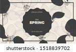 lotus flower petals background. ... | Shutterstock .eps vector #1518839702