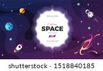 space exploration modern... | Shutterstock .eps vector #1518840185