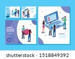 set of scenes teamwork people   Shutterstock .eps vector #1518849392