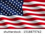 waving flag of usa....   Shutterstock . vector #1518875762