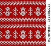 knitted sweater seamless... | Shutterstock .eps vector #1518882218