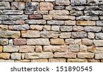 stacked stone wall background... | Shutterstock . vector #151890545