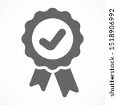 approved icon. medal  award... | Shutterstock .eps vector #1518906992