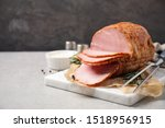 Delicious Cooked Ham Served On...