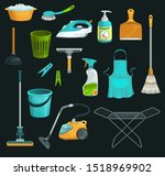 house cleaning product icons of ...   Shutterstock .eps vector #1518969902