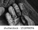 artistic black and white image... | Shutterstock . vector #151898096