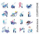 cancer control prevention mri... | Shutterstock .eps vector #1518992048