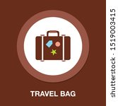 travel bag icon   suitcase with ... | Shutterstock .eps vector #1519003415