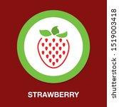 vector strawberry icon  fresh... | Shutterstock .eps vector #1519003418
