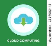 download cloud icon  vector... | Shutterstock .eps vector #1519003448