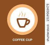 coffee cup icon  coffee mug ... | Shutterstock .eps vector #1519003475