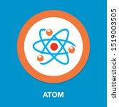 atom icon  atom vector symbol ... | Shutterstock .eps vector #1519003505