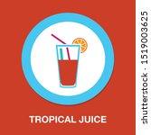 fresh juice icon  vector cold...