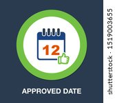 calendar approved date icon ... | Shutterstock .eps vector #1519003655