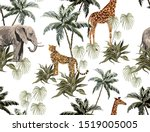 beautiful tropical vintage... | Shutterstock .eps vector #1519005005